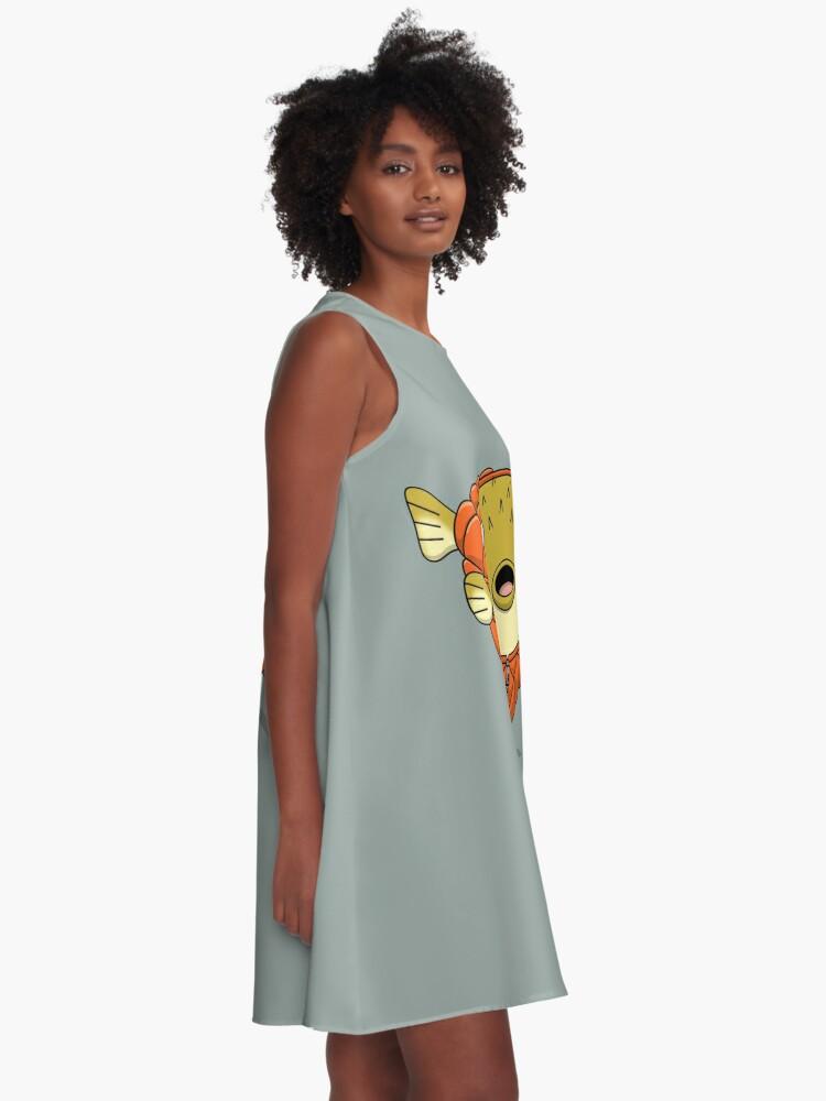 Alternate view of Puffer fish A-Line Dress