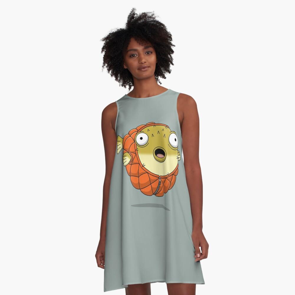Puffer fish A-Line Dress Front