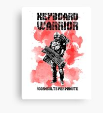 Keyboard Warrior Canvas Print