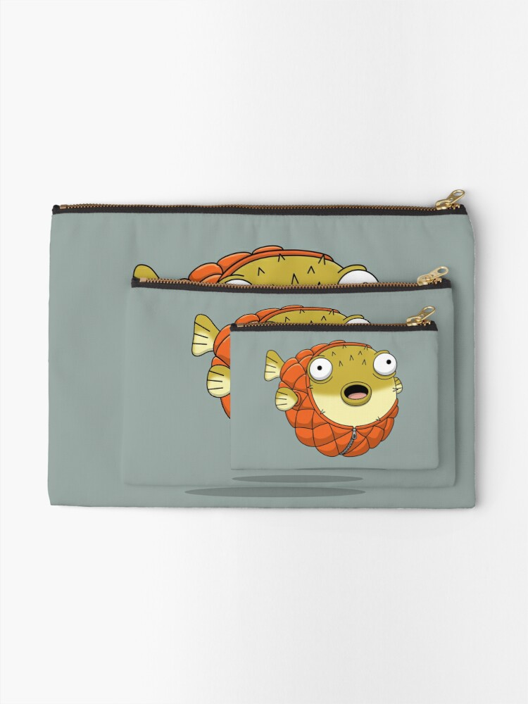 Alternate view of Puffer fish Zipper Pouch