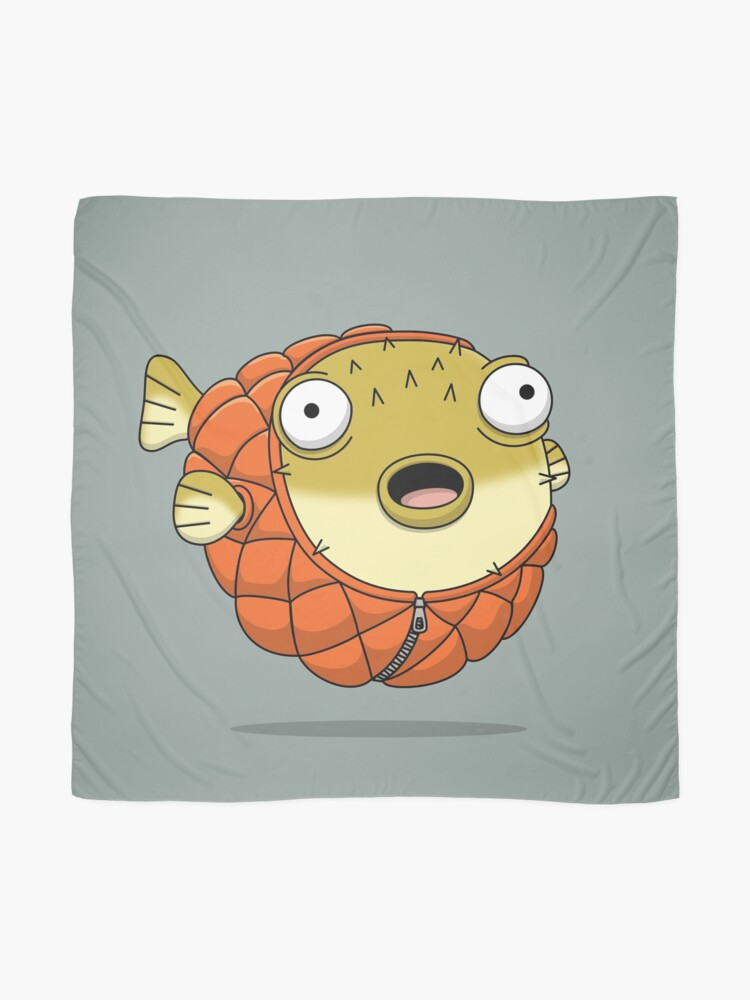Alternate view of Puffer fish Scarf