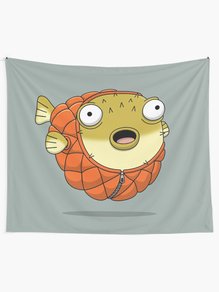 Alternate view of Puffer fish Tapestry