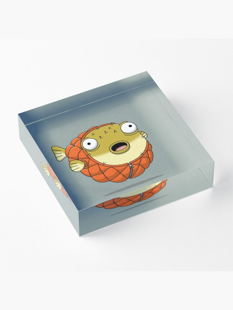 Alternate view of Puffer fish Acrylic Block