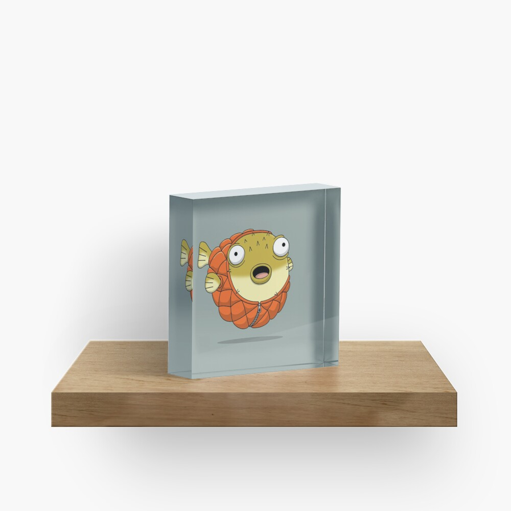 Puffer fish Acrylic Block