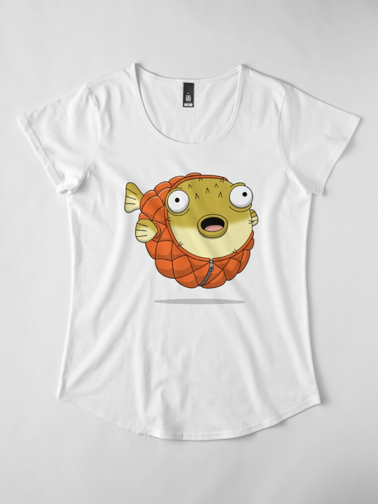 Alternate view of Puffer fish Premium Scoop T-Shirt
