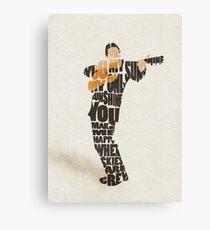 Typographic and Minimalist Johnny Cash Illustration Canvas Print