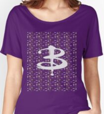 buffy pattern Women's Relaxed Fit T-Shirt