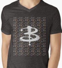 buffy pattern Men's V-Neck T-Shirt