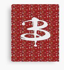 buffy pattern Canvas Print