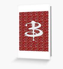 buffy pattern Greeting Card