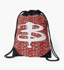 buffy pattern Drawstring Bag
