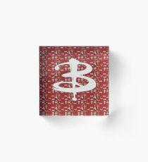 buffy pattern Acrylic Block