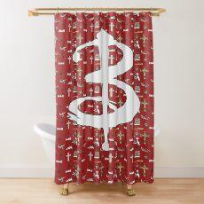 buffy pattern Shower Curtain