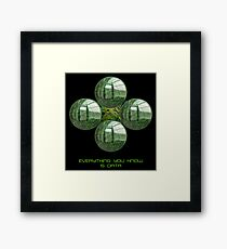 Matrix Data is Everything Framed Print