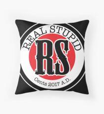 Real Stupid Logo Throw Pillow