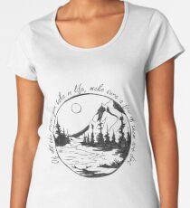 Camiseta premium para mujer Excursionismo