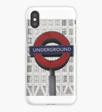 London Underground at Canary Wharf iPhone Case