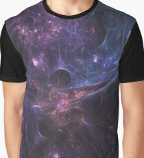 Colorful Space Nebula With Energy Bursts Wallpaper Graphic T-Shirt