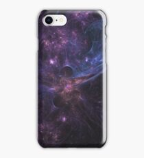 Colorful Space Nebula With Energy Bursts Wallpaper iPhone Case/Skin