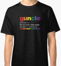 Guncle Definition Funny Gift for Gay Uncle Classic T-Shirt