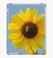 Bee on sunflower iPad Case/Skin