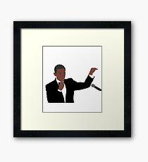 """""""Obama Out"""" Framed Print"""