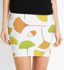 Ginkgo Tree Pattern Mini Skirt