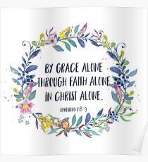 Von der Anmut allein - christliches Zitat Poster