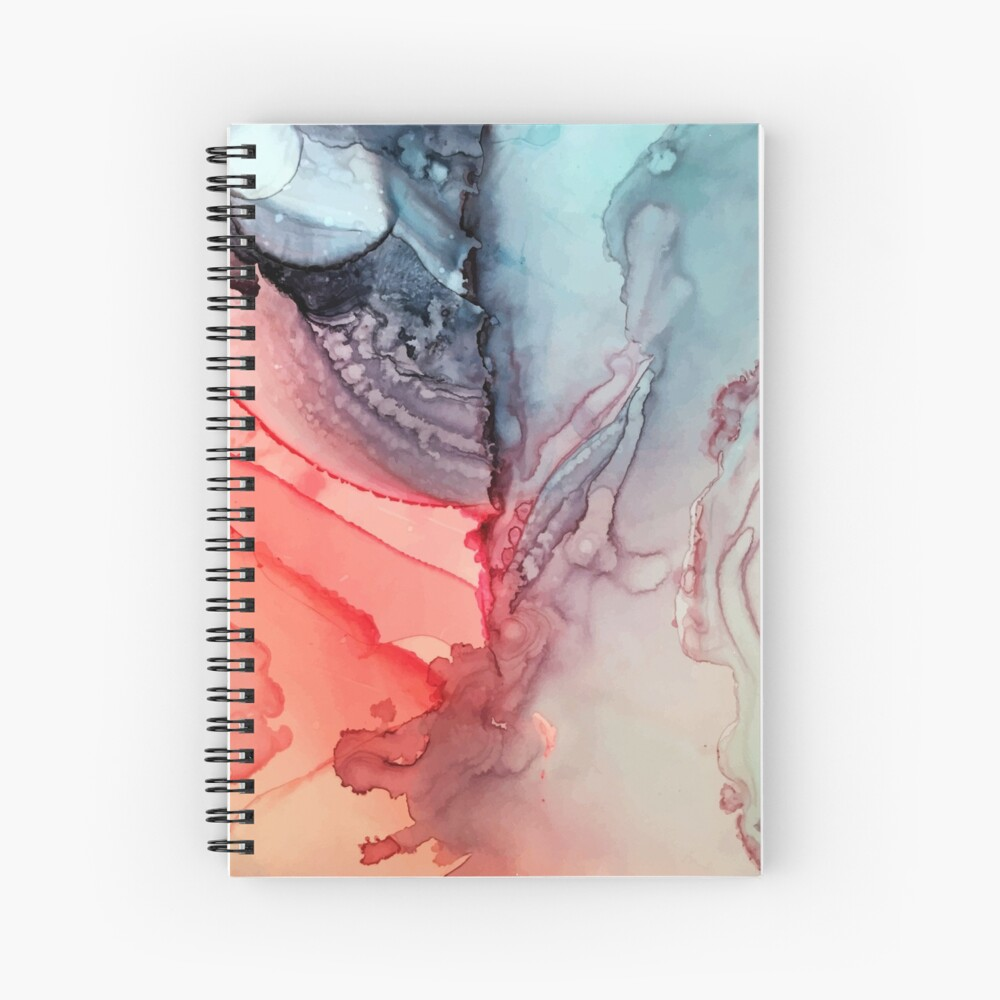 Undertown Meets Lava- Alcohol Ink Painting Spiral Notebook