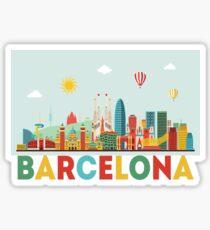 BARCELONA MERCH STICKER IPHONE CASE Sticker