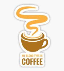 Distress - My Blood Type is Coffee Sticker