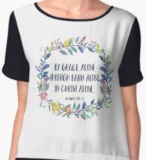 By Grace Alone - Christian Quote Women's Chiffon Top