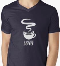 Humorous My Blood Type Is Coffee Men's V-Neck T-Shirt