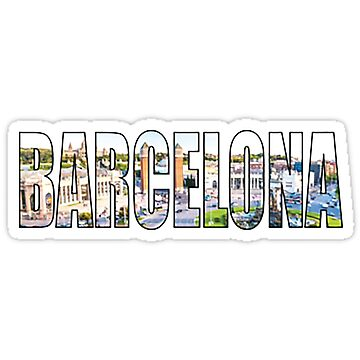 BARCELONA MERCH STICKER PHONE CASE  by youtubemugs