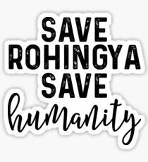Save Rohingya Save Humanity Sticker