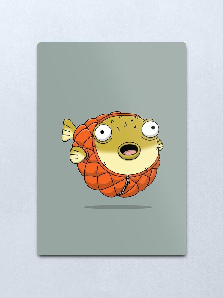 Alternate view of Puffer fish Metal Print