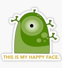 This is my happy face. Sticker