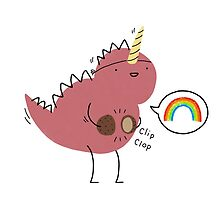 Dinosaur dressed up as a unicorn  by Ben Cameron