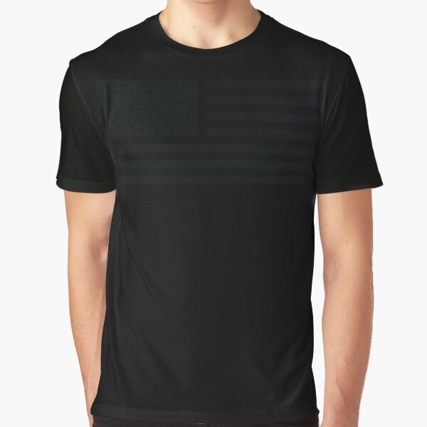 American Flag Tactical Graphic T-Shirt