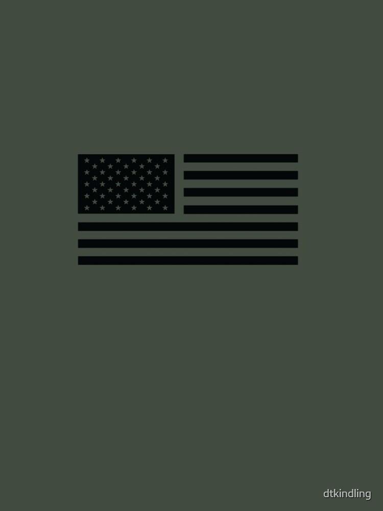Bandera americana táctica de dtkindling