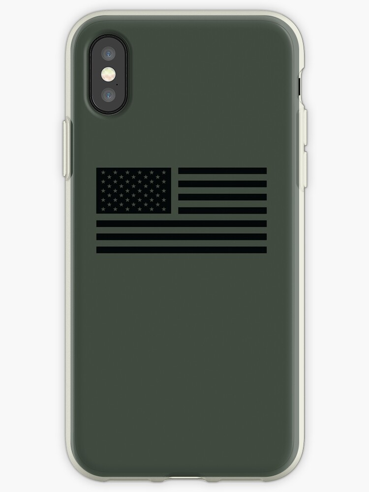 wholesale dealer e6023 758d8 'American Flag Tactical' iPhone Case by dtkindling