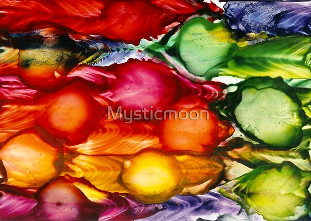 Blooming Fields Abstract II by Mysticmoon