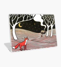 Stargazing - Fox in the Night Laptop Skin