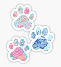 Preppy Paw Print Trio Sticker