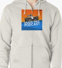 Grand Prix Podcast logo Zipped Hoodie