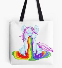 Unicorn Barfing Rainbow Tote Bag