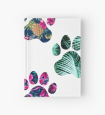 Tropical Paw Print Trio Hardcover Journal