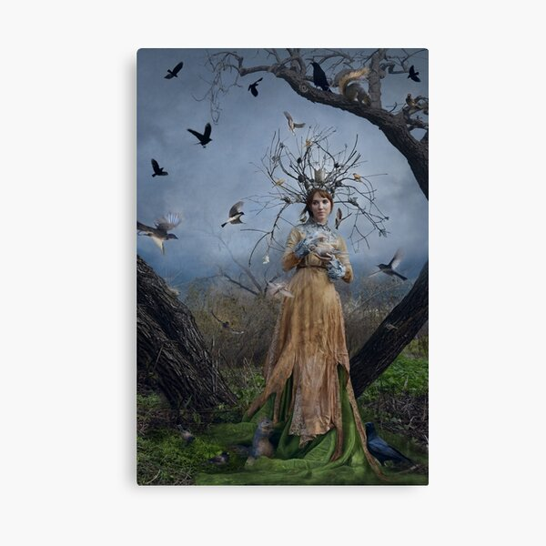The Court Of The Dryad Queen Canvas Print