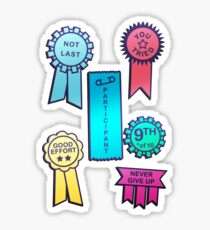 Award For The First Loser Sticker