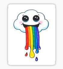 rainbow and cloud  Sticker